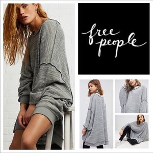 Free People So Fresh Slouchy Thermal Tee.  NWT.